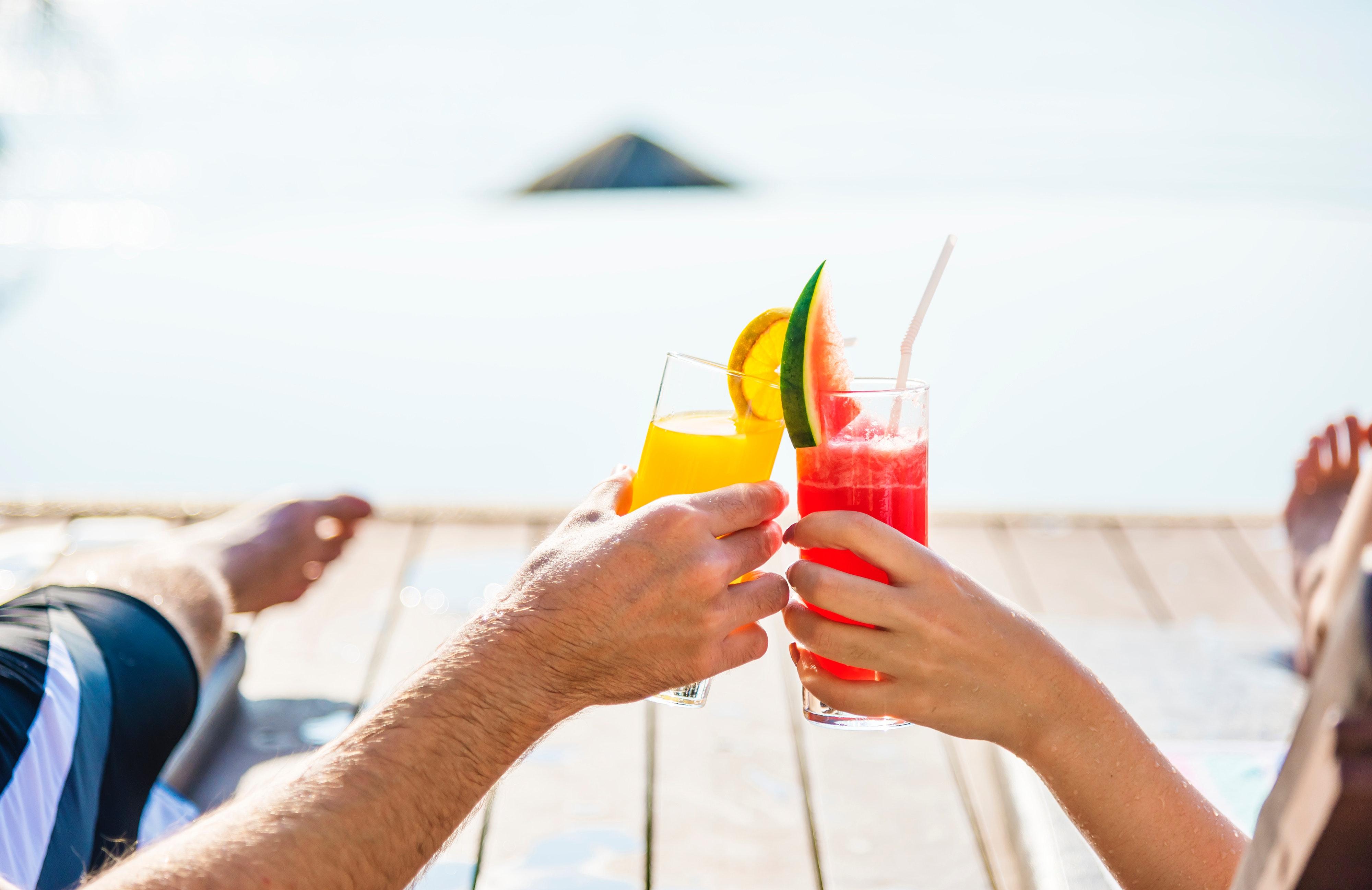 adult beach drinks